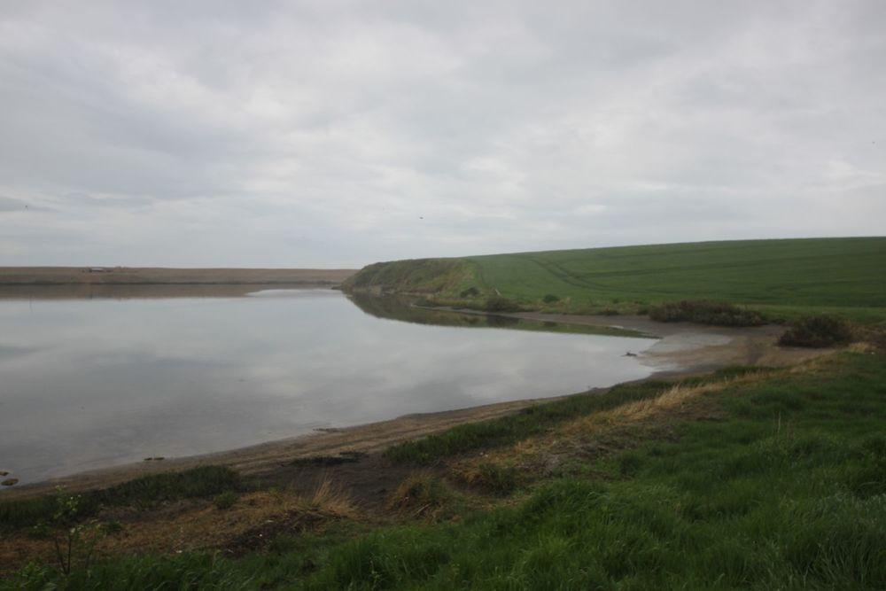 a gloomy view over herbury island