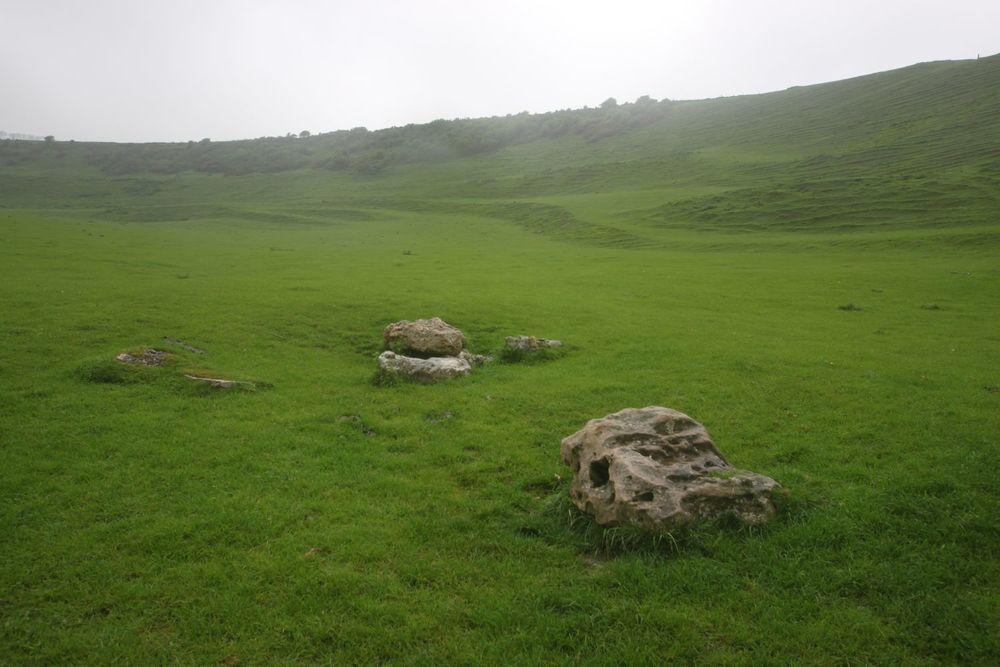 two big stones