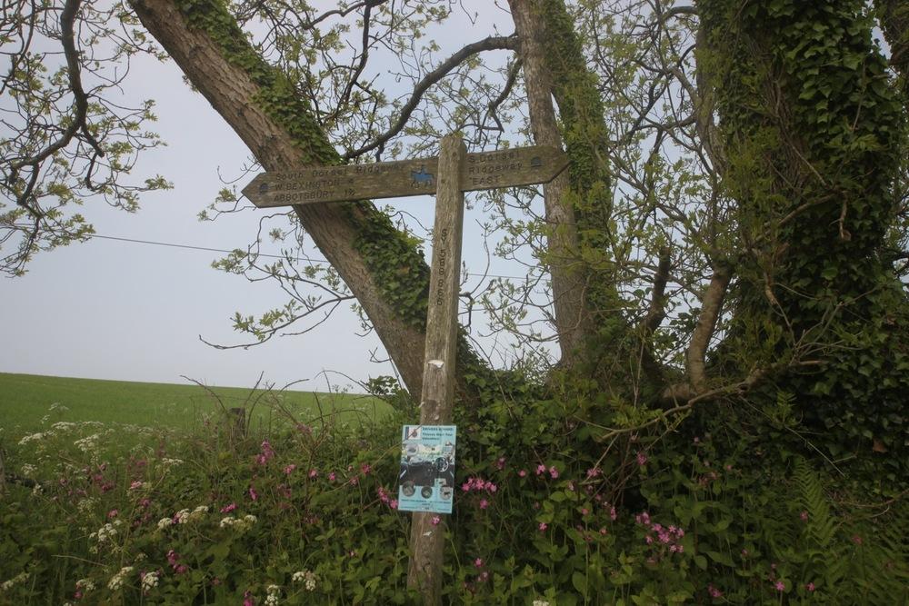 south dorset ridgeway signpost