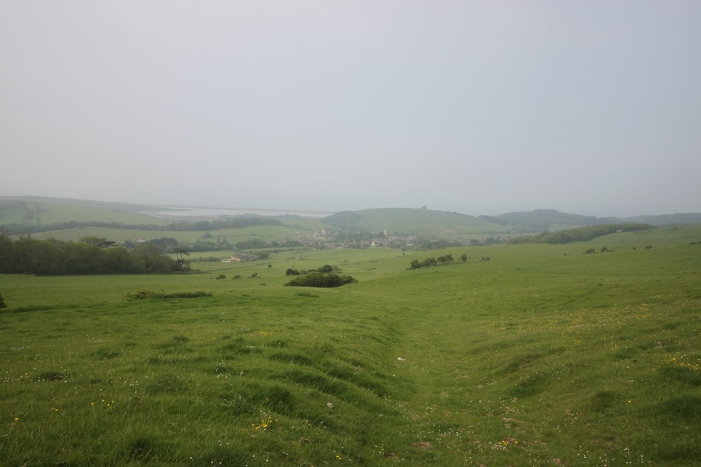 misty view over abbotsbury
