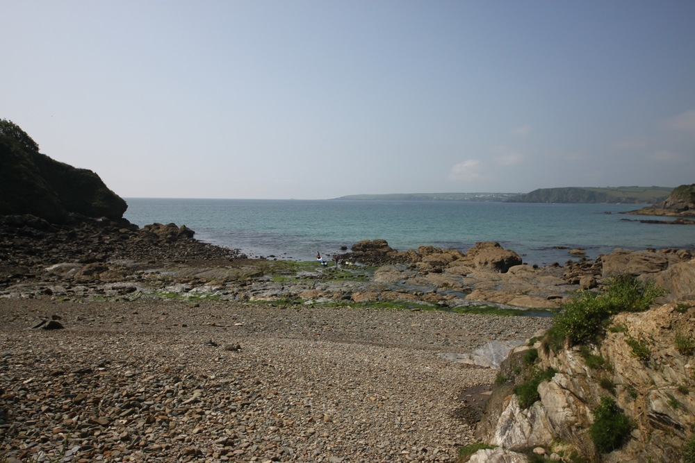 canoeists at hallane beach