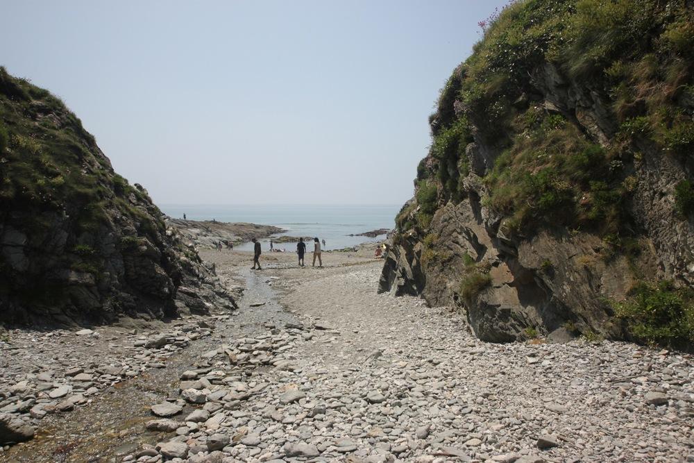 leaving lansallos beach