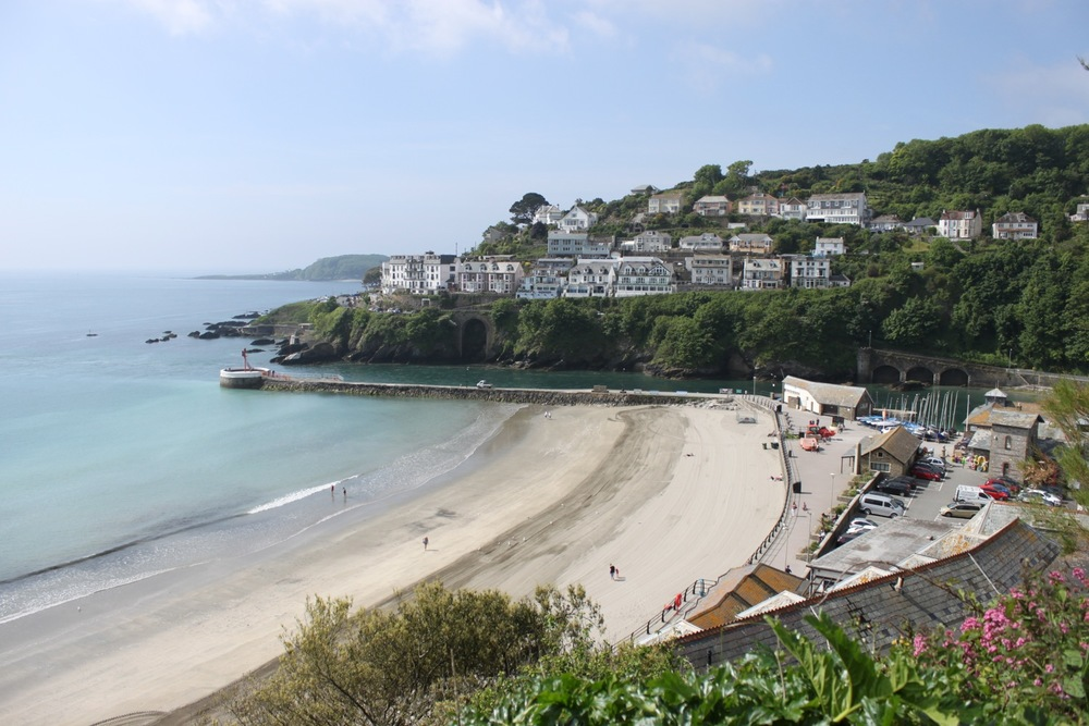 overlooking east looe beach
