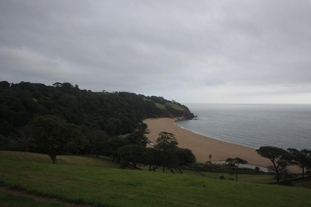 view back over Blackpool Sands