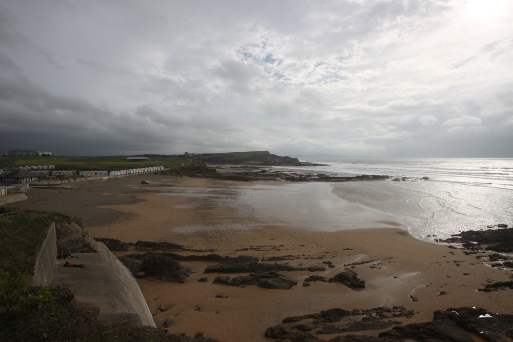 view over the beaches at bude