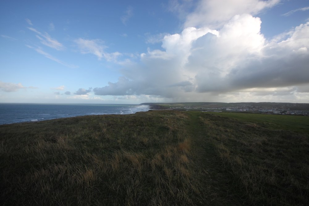 view back over bude