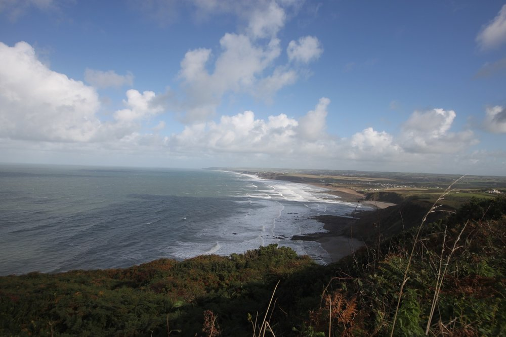 view back to bude