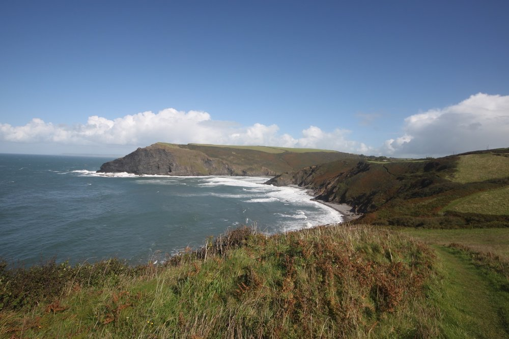 view back to crackington haven