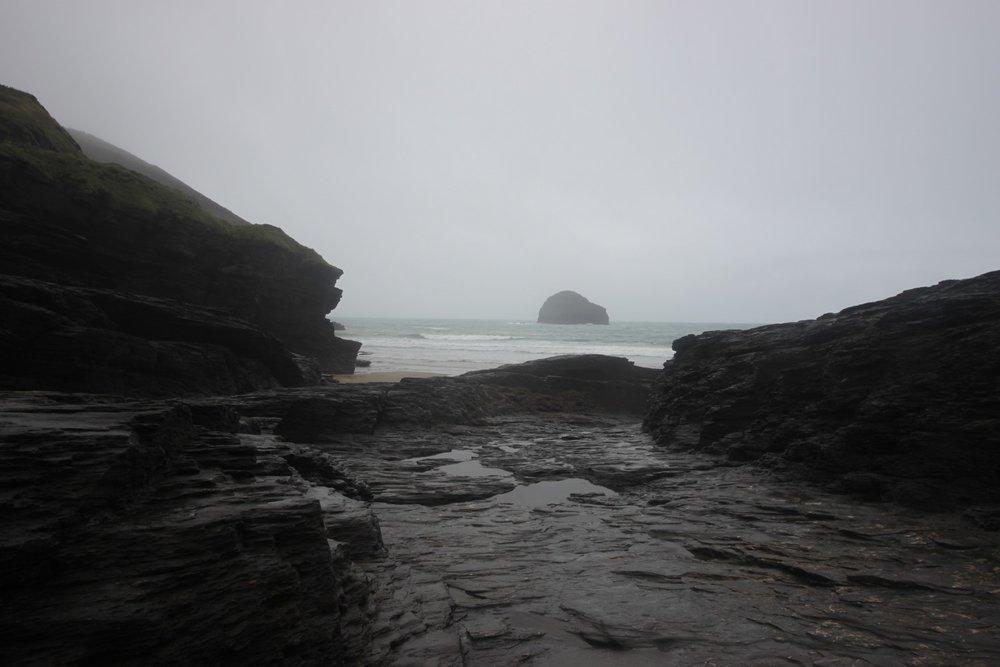 murky trebarwith strand