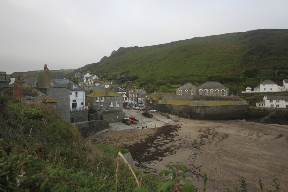 view over port isaac harbour