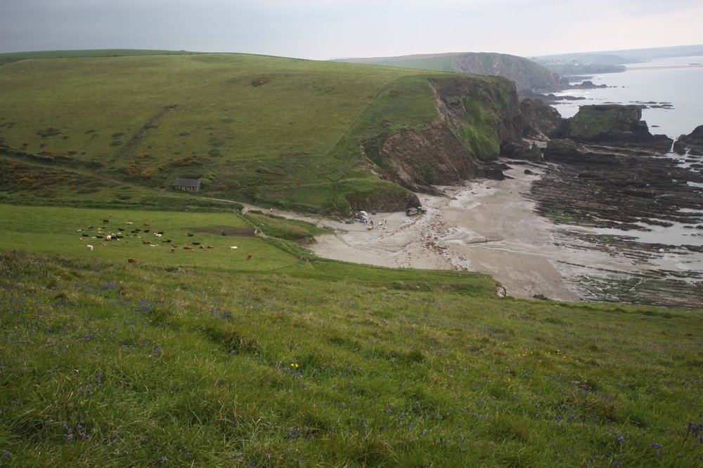 view over westcombe beach