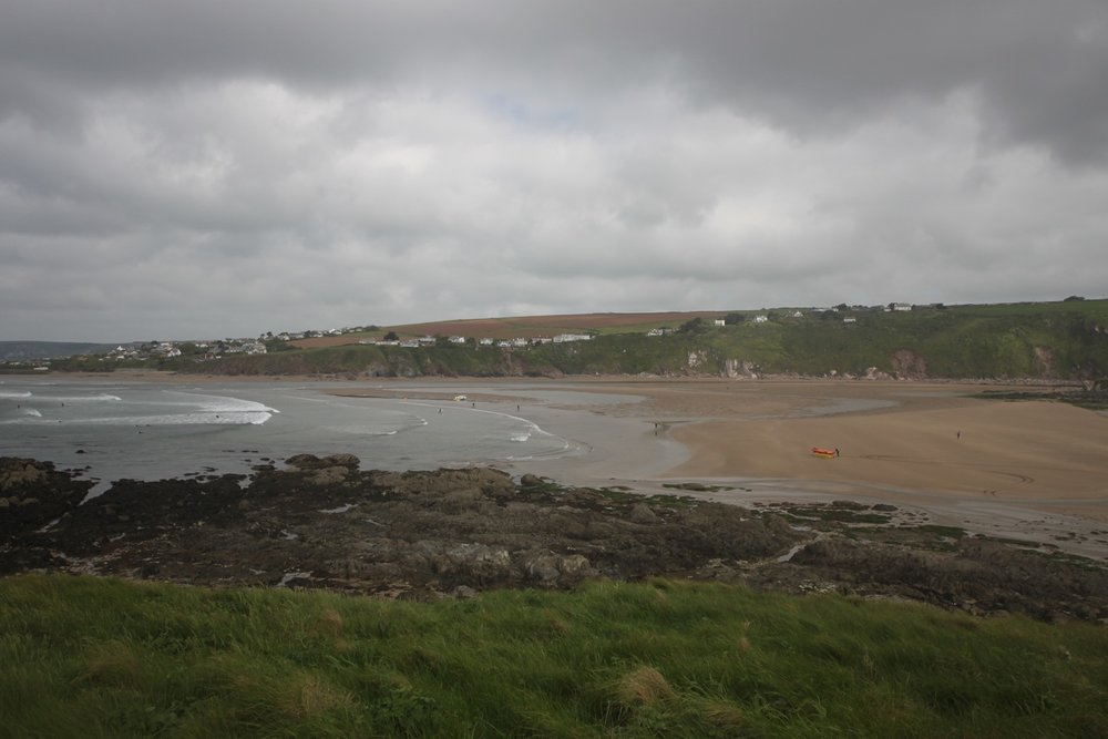 view over bantham beach