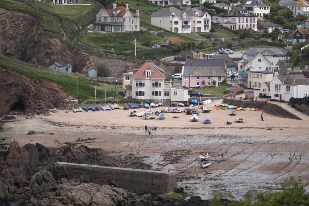 view back over hope cove