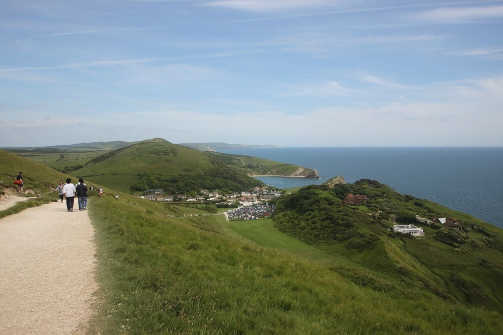 view over lulworth cove
