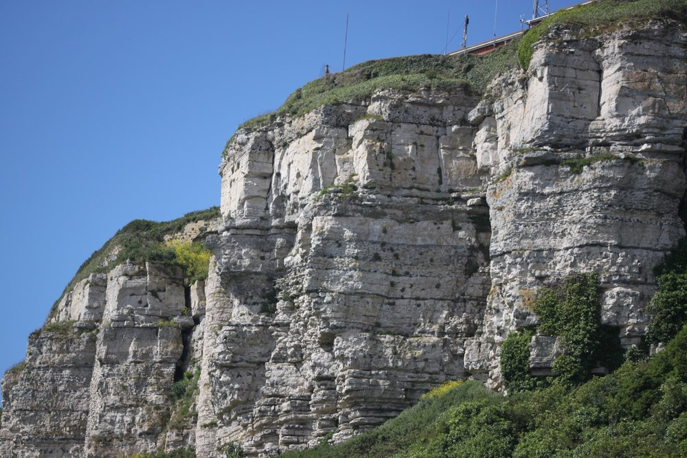 towering cliff faces