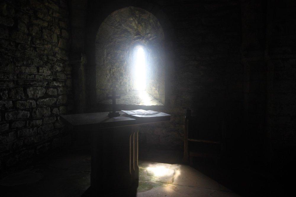 inside st aldhelm's chapel