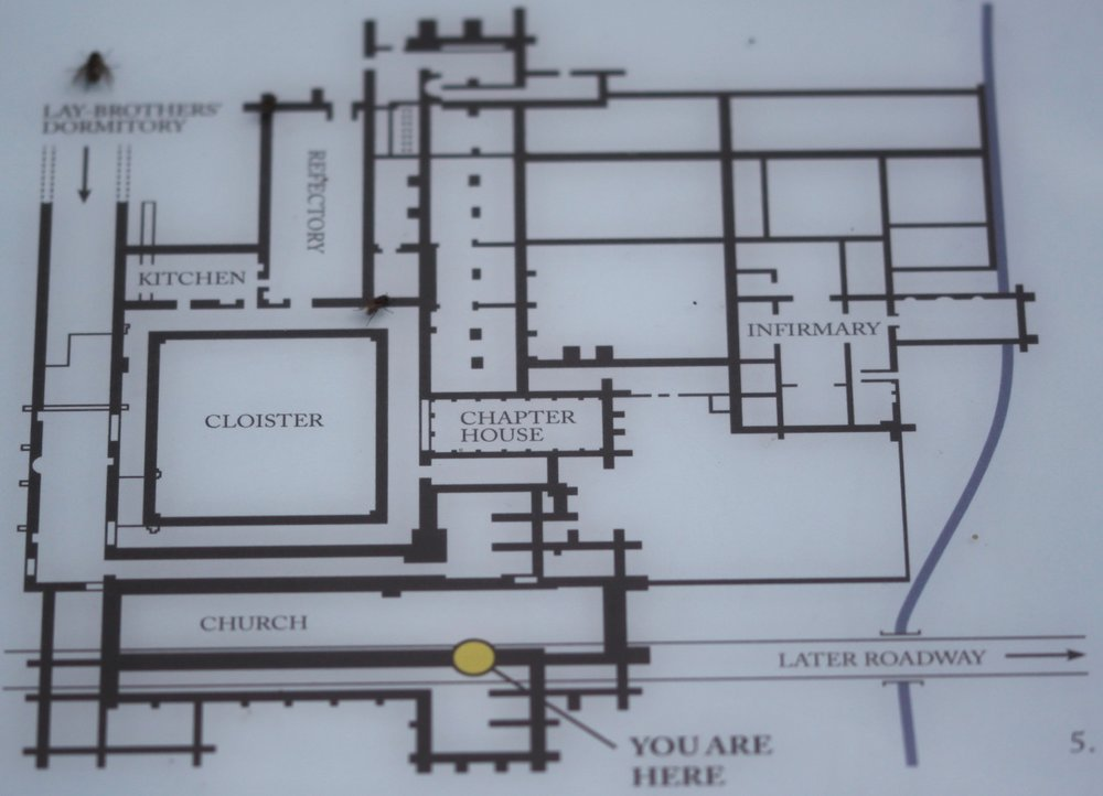 the plan of old quarr abbey