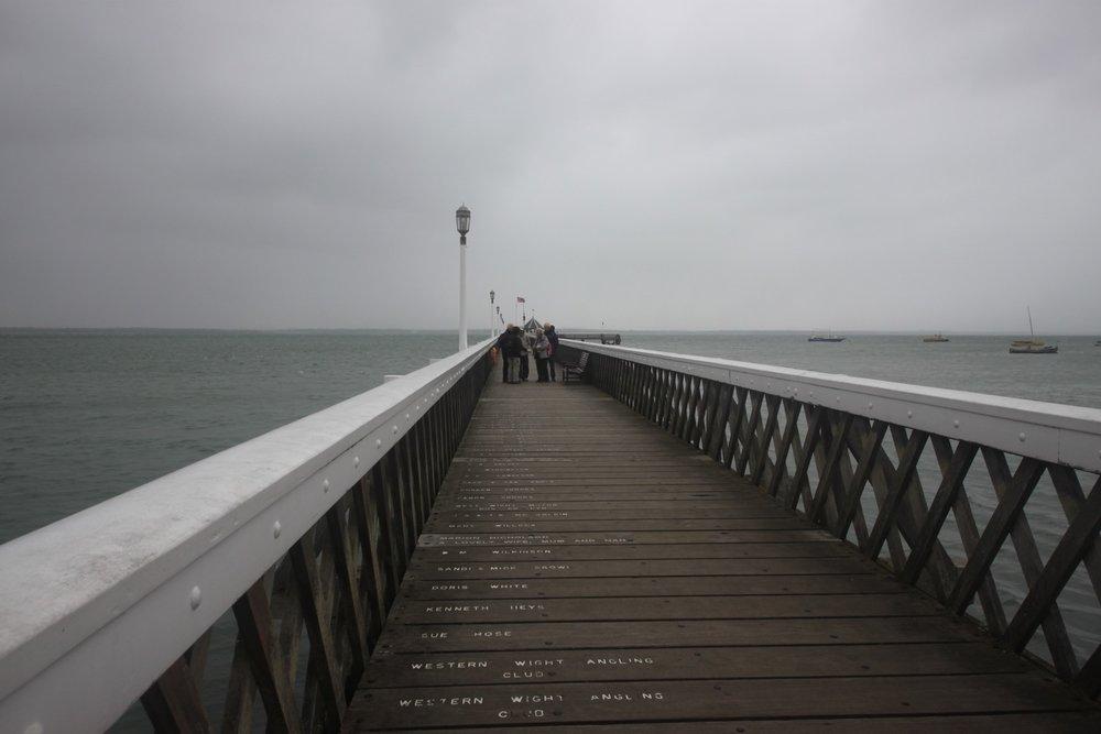 murky yarmouth pier