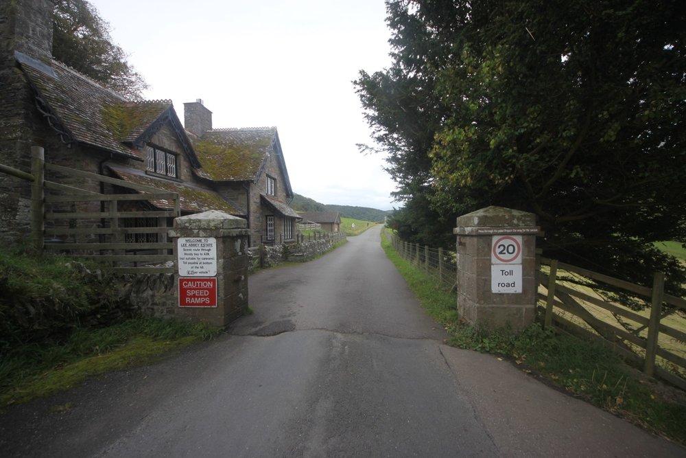 entering lee abbey estate
