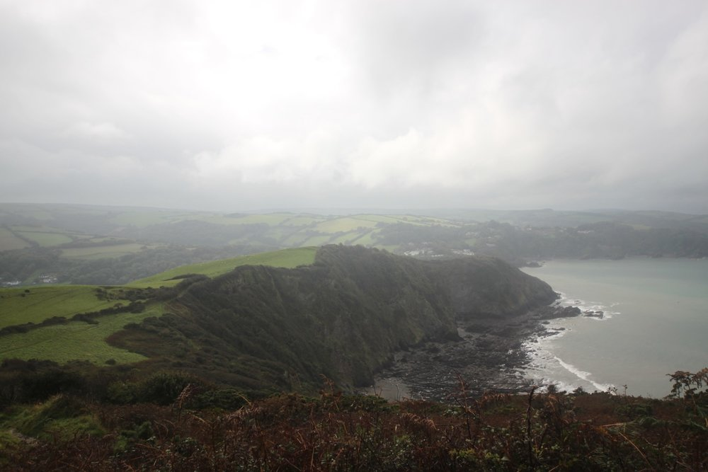 view over combe martin