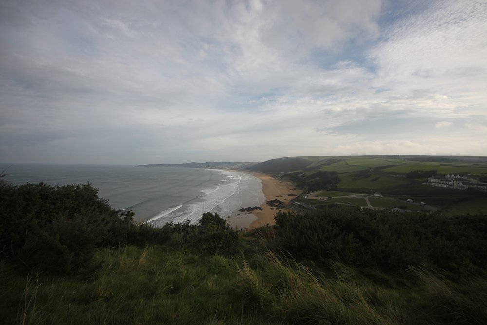 view over putsborough sands