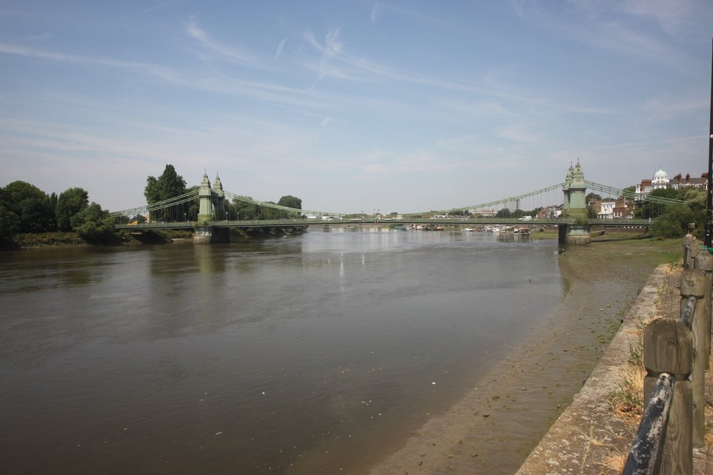 looking back to hammersmith bridge