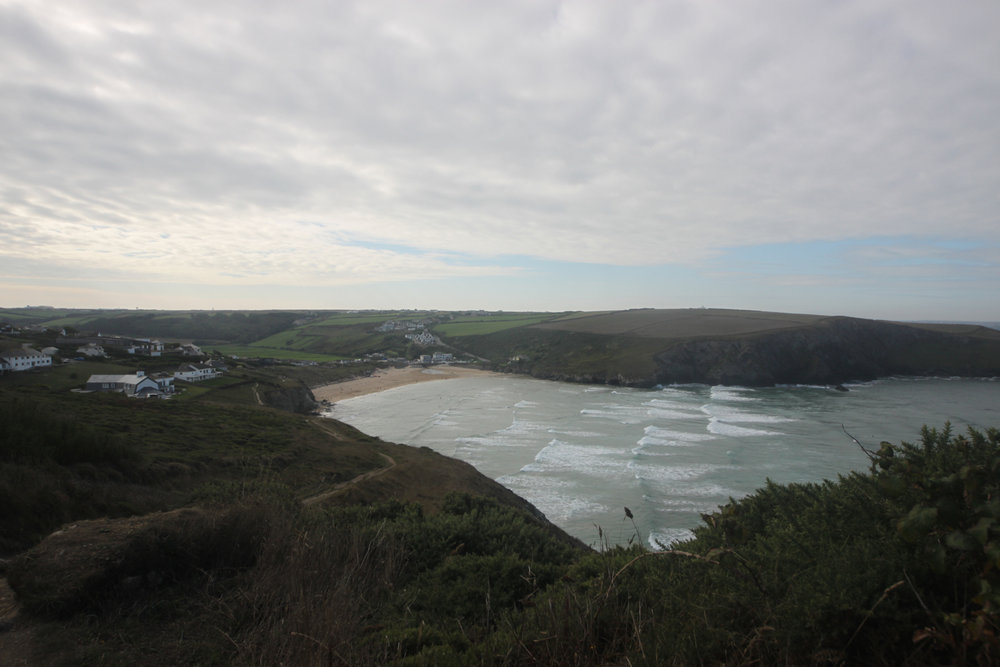the view over mawgan porth