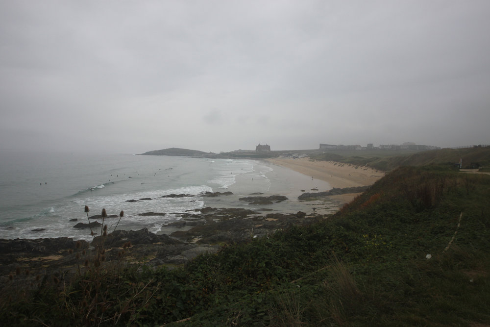 leaving fistral beach