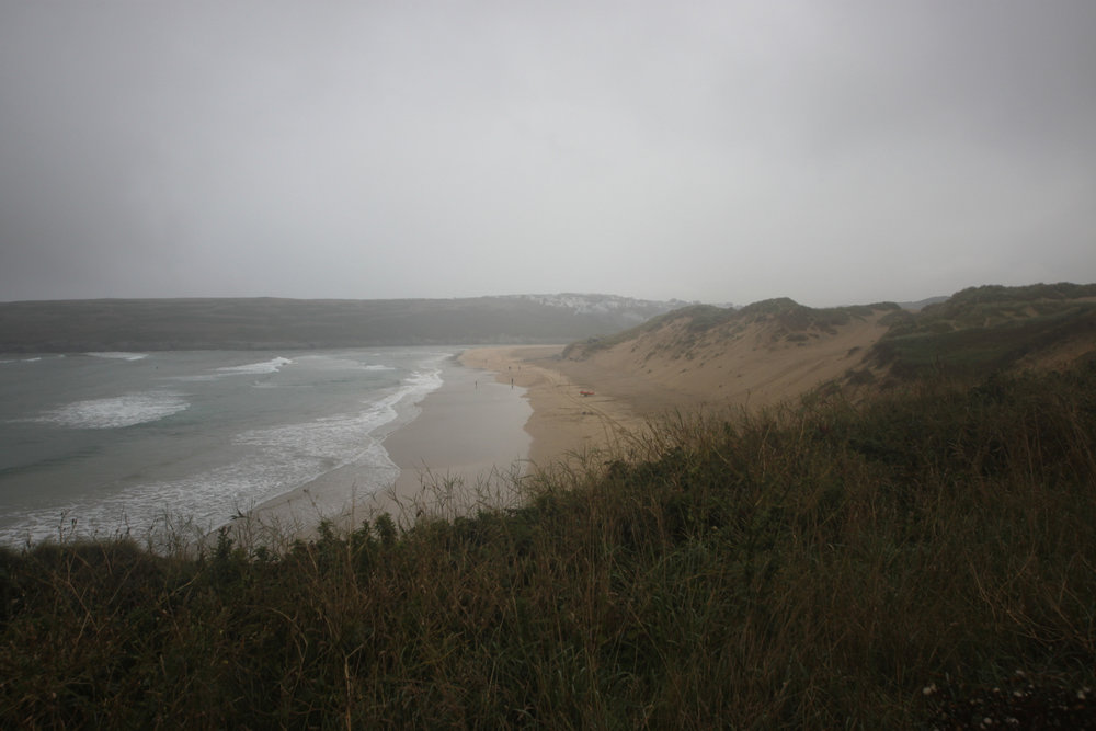 leaving crantock beach