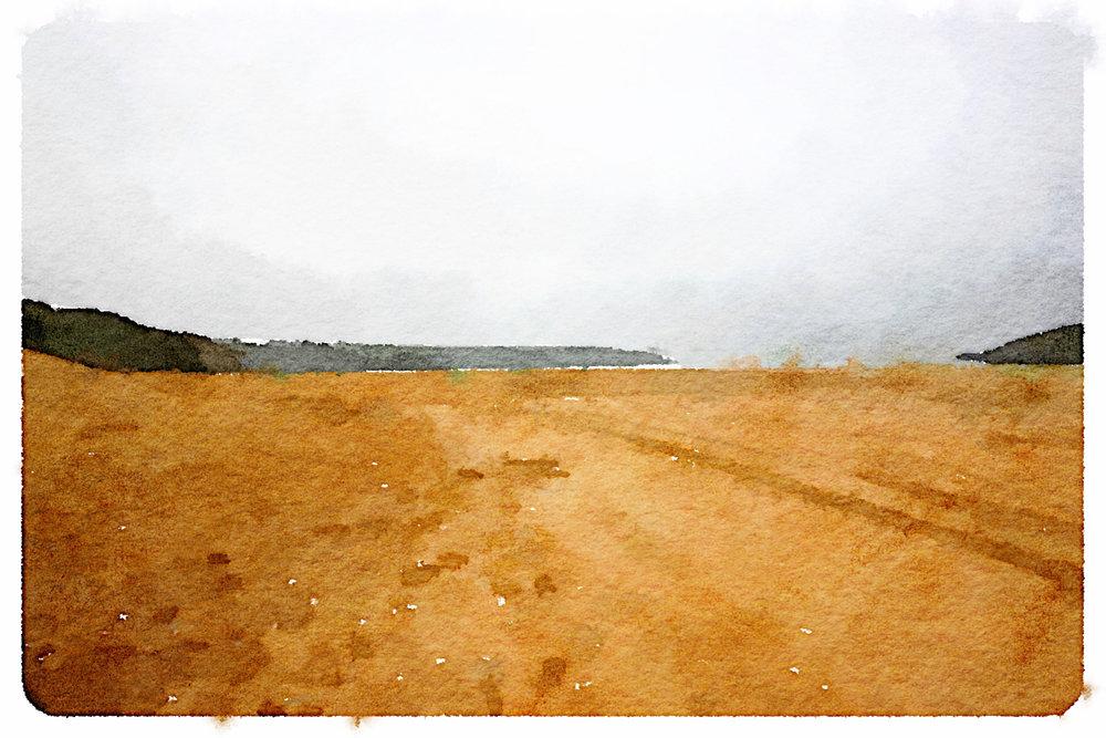 murky crantock beach