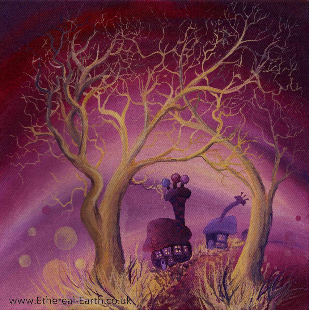 Violet Golden Trees