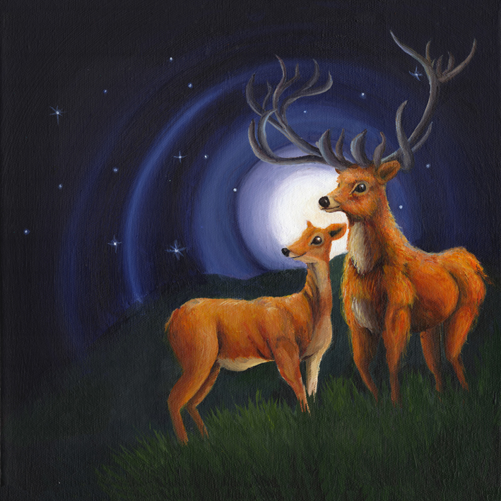 Stag and Doe