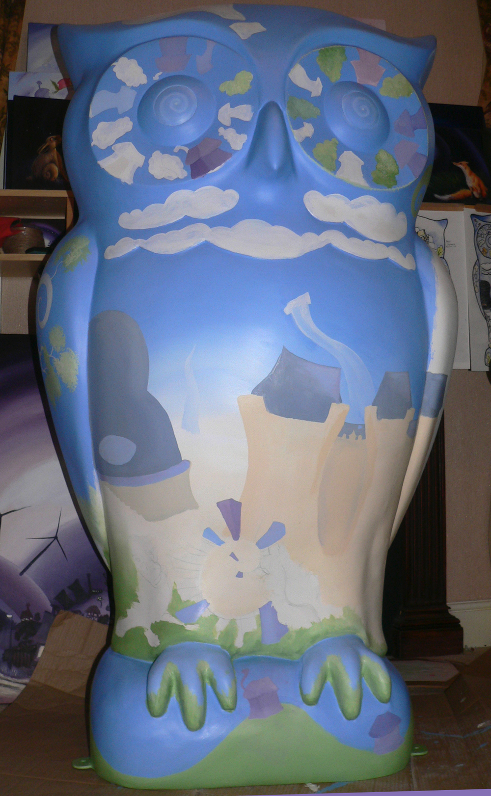 Owl Front in Progress.JPG