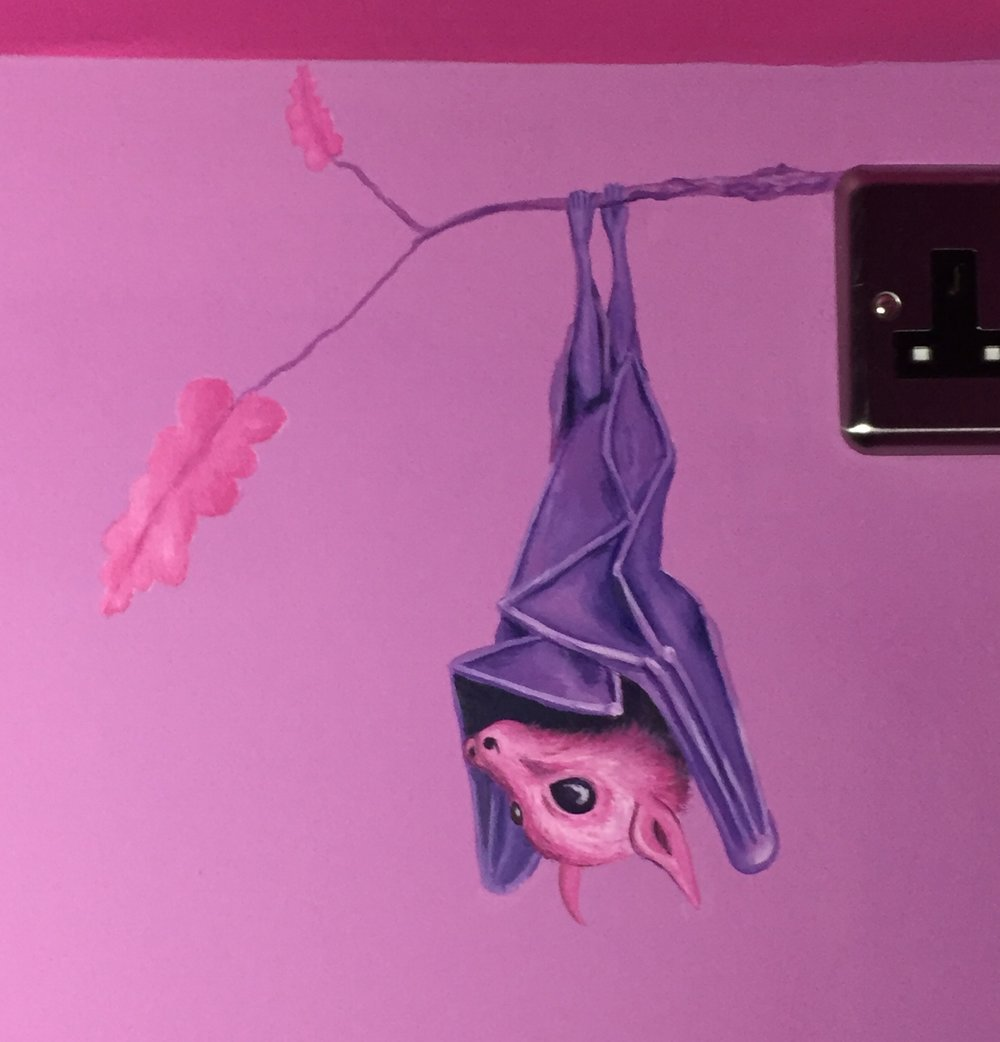 Pink Bedroom Murals