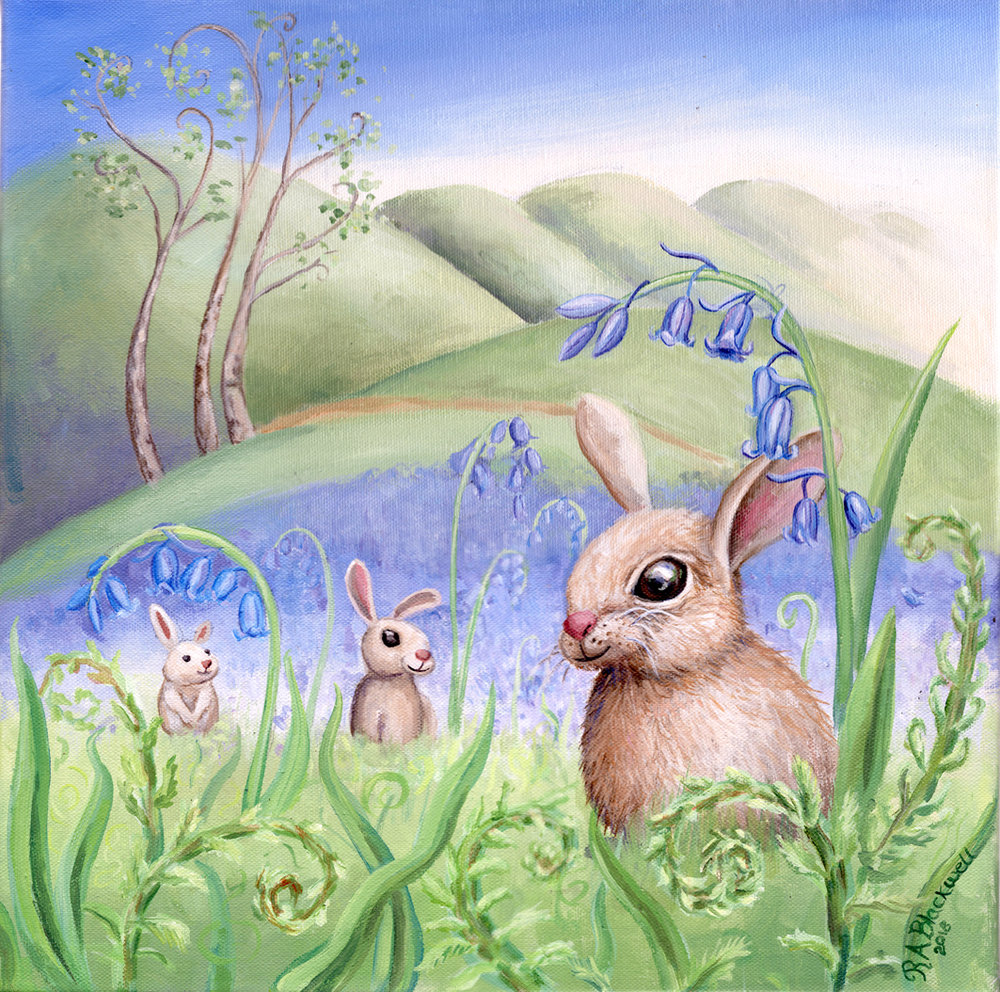 Bunnies and Bluebells