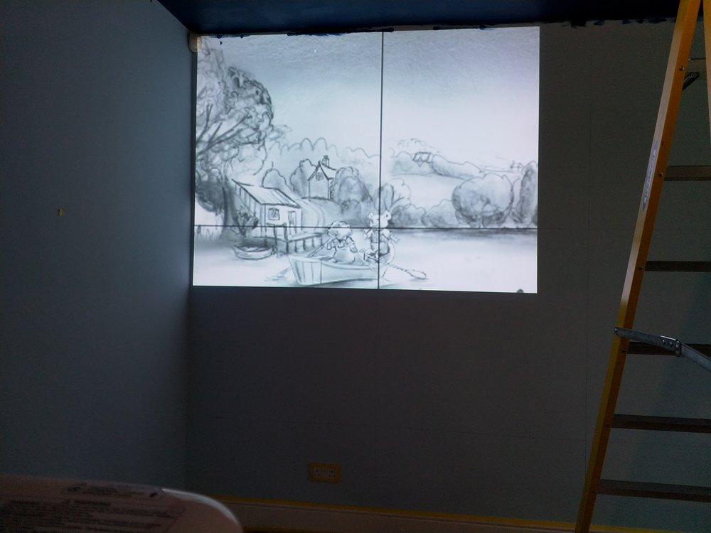 Projecting Sketch onto Wall