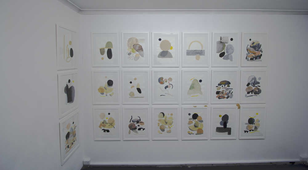 All framed works on paper, 50cm x 63 cm