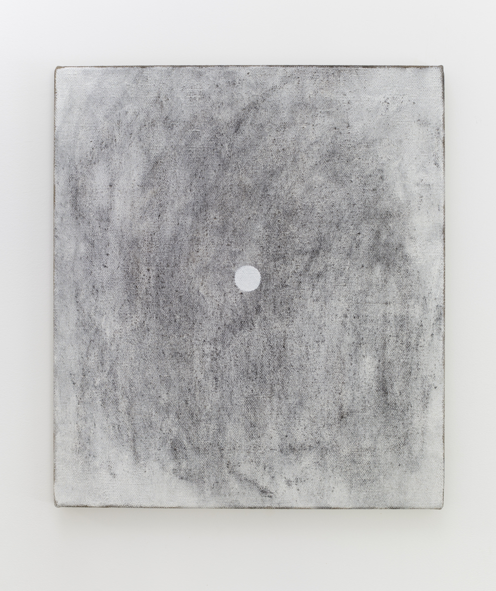Eleanor Louise Butt, Untitled (burnt log rubbing), 2016. Oil and burnt log charcoal on Belgian linen 46cm x 41.5cm