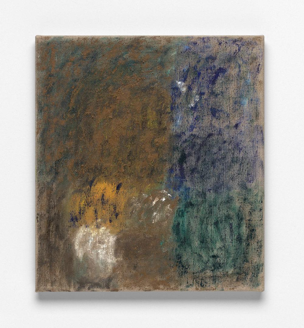 After L'Été 12, Oil on Linen, 46 x 41cm, 2019. Photograph by Matthew Stanton.
