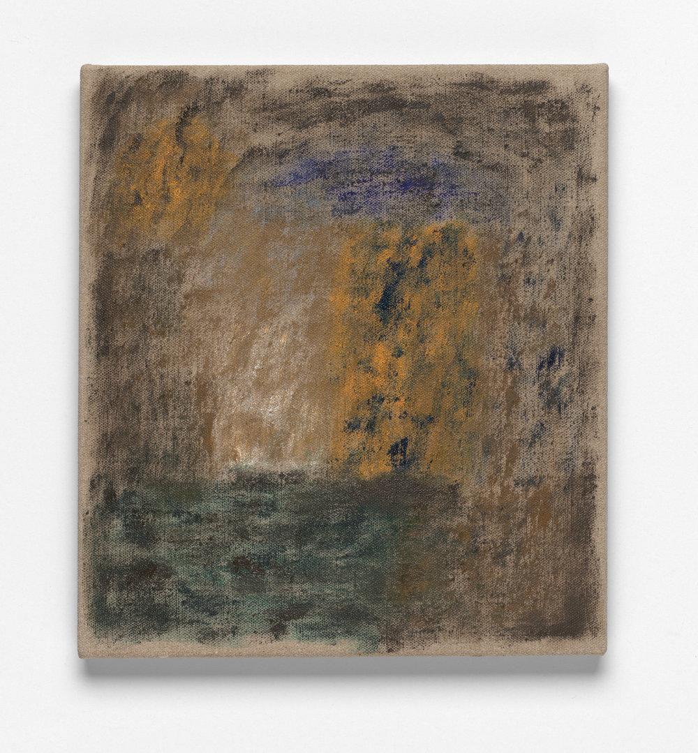 After L'Été 7, Oil on Linen, 46 x 41cm, 2019. Photograph by Matthew Stanton.