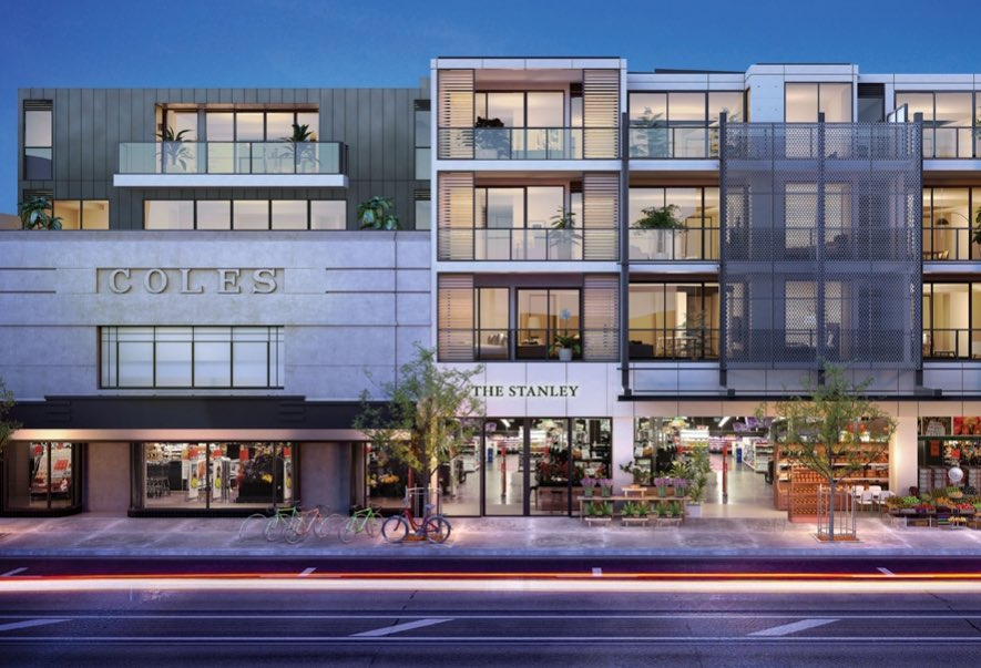 Getting presales: Apartments busy areas such as Melbourne's Collingwood are sold off the plan. Pic: The Stanley at Smith&Co .
