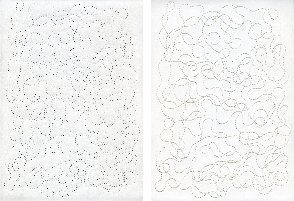 Thread / paper, 21 x 30 cm