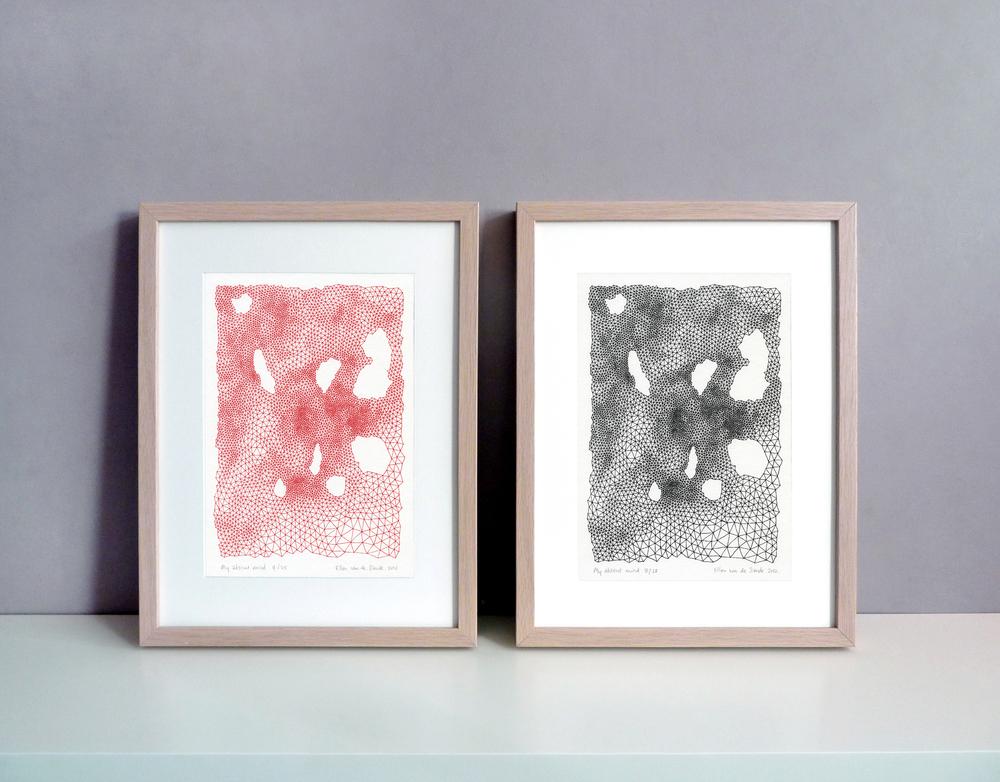 Silkscreen prints, 21 x 30 cm