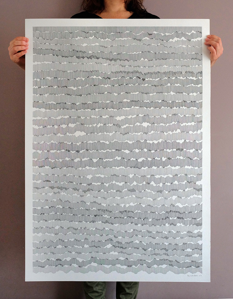 Ink on paper, 70 x 100 cm