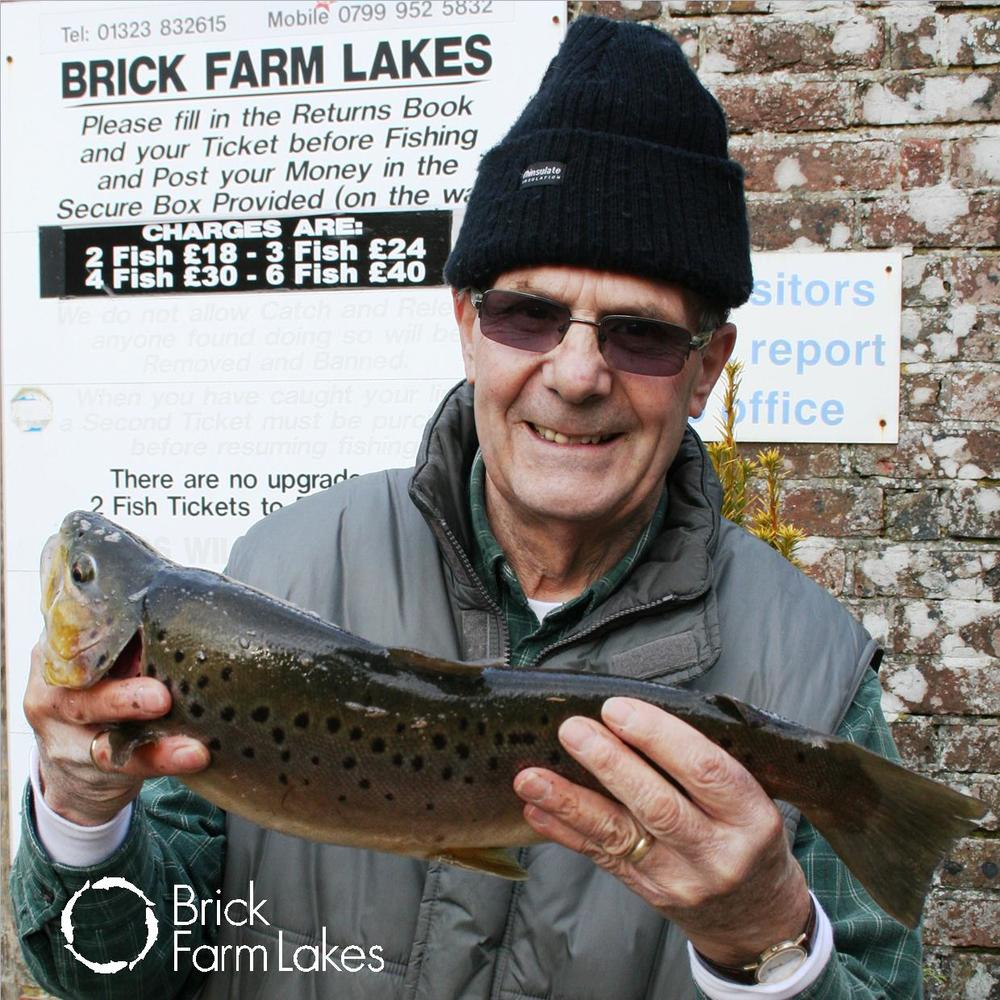 "Harry Atkins from Hove at Brick Farm Lakes with a beautiful 3lb 5oz brownie caught with a Cats Whisker on an intermediate line, ""Nice one Harry!"""
