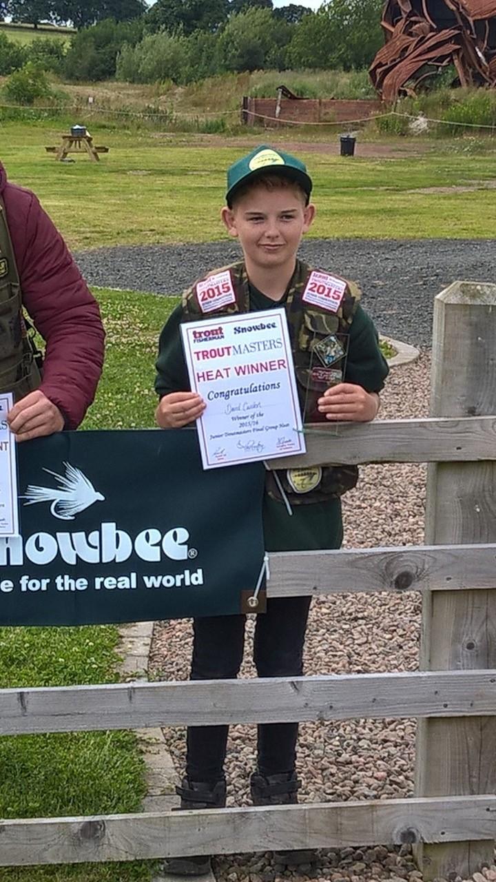 David Carden junior troutmasters heat winner - fantastic! Well done, david!!