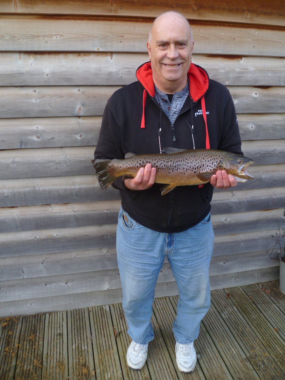 John Baldwin with a 5lbs 13oz Brown caught on Boxing Day - fantastic!