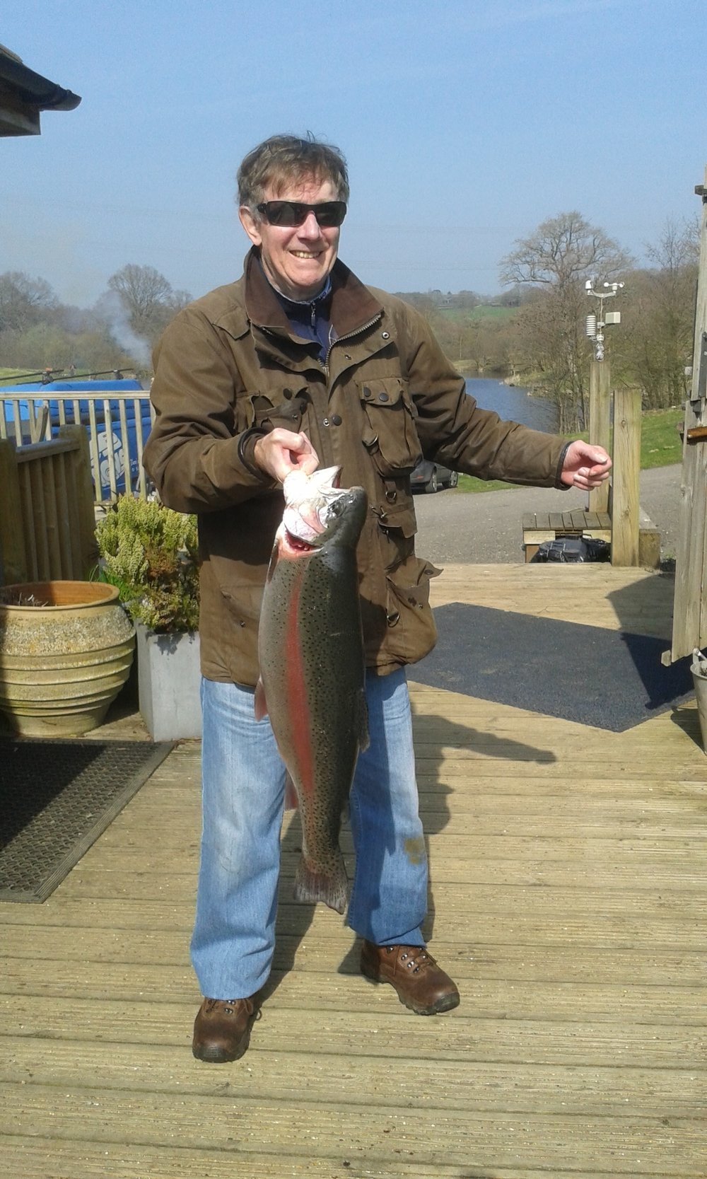 And Ian powers with a rainbow at nearly 13lbs - lovely to see you smiling!!