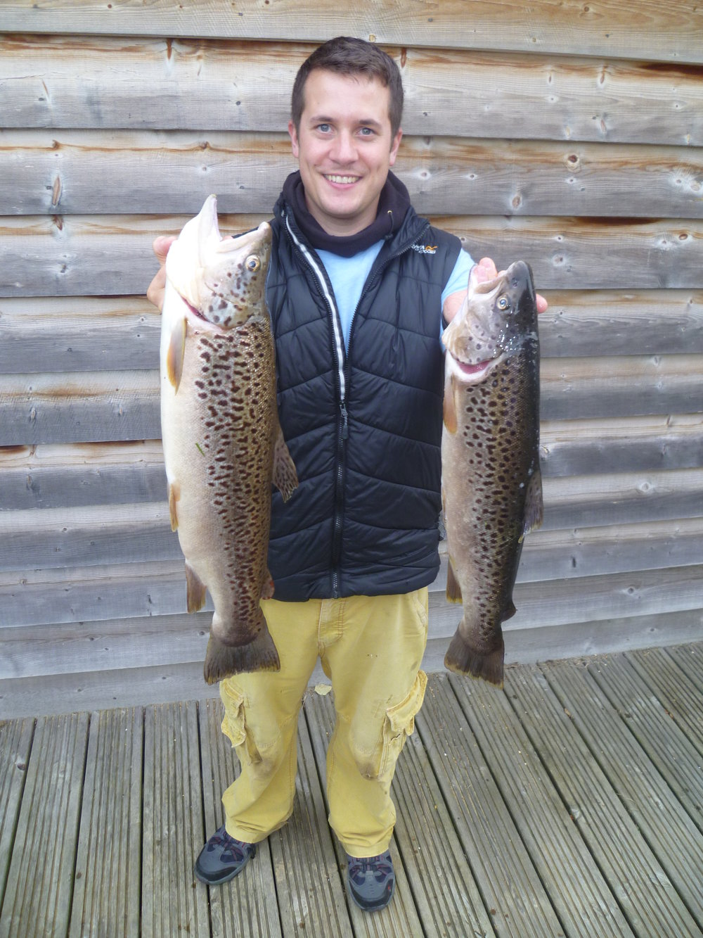 Tom Askaroff with two lovely browns 6lb1 and 4lb7.JPG