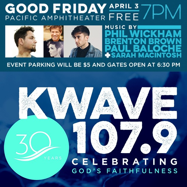 Excited to be sharing the stage w/my friends & celebrating 30 years of @kwve See you Friday Night SoCal!
